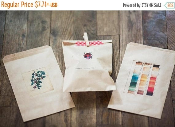 ON SALE Custom Printed Favor Bags - Weddings, Business Logos, Parties and Events- Send us your text, artwork or logo- size 4 in x 6 in kraft