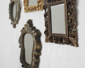 Set of 4 Small Wall Mirrors