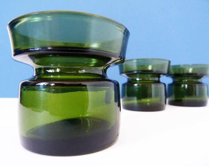 3 Classic Danish IHQ Dansk tealight holders vintage