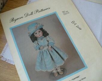 Doll Sewing Pattern Gift, Byron Daphne Doll Pattern, Doll Dress Pattern, DIY Doll Dress