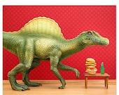 FALL SALE Dinosaur decor: Dino Burger