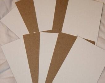 """On sale 10% off 20 white brown cardboard chipboard hair tie ties display cards 4.75"""" x 3.25"""""""