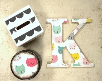 Kitty Wood Box, Storage Box, Keepsake Box, Wooden, Cat, Kids, Treasure Box, Handmade, Kitten, Wood Boxes, Powder box