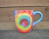 Colorful Tie Dye XL 28 oz. Mug - Rainbow Swirl - Gay Pride - Hippie Boho Mug