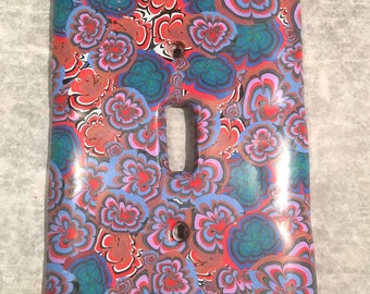 Luxe Swirl Switchplate . Polymer Clay Cane . Large