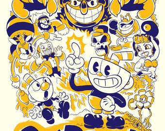 CUPHEAD Video Game Poster Art