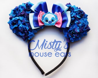 inspired Stitch Rose Mouse Ears