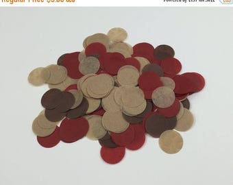 "ON SALE Woodland Theme Tissue Confetti 3/4"" Circle Choose your colors or select one of our mixes"