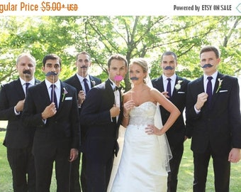 ON SALE Mustache and or  lips  on a Stick  Photo Booth Prop DIY Sets