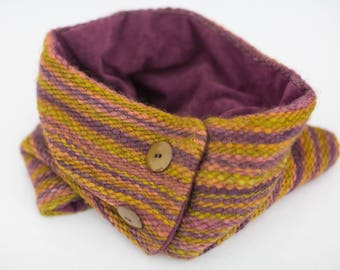 Handwoven Cowl - Bluefaced Leicester Wool
