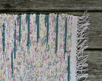 MATTA-Hand Woven-Cotton-Cotton/Poly Blend Rag Rug-Union #36 Loom-Scandinavian-Cottage Chic-Lake House