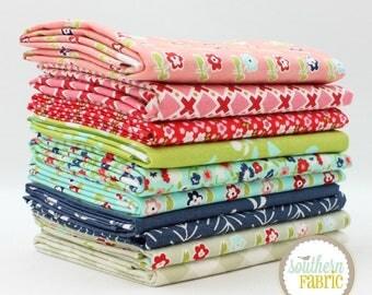 "Garden Grove - Half Yard Bundle - 10 - 18""x44"" Cuts - by Mixed Designers Quilt Fabric"