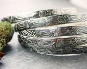 Custom listing for Regina- Art Deco bangles- Silver bracelets- Art Deco jewelry- flower bangle- garden jewelry