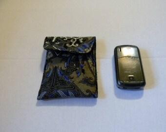 Blue India Motif Batik Cell Phone Case