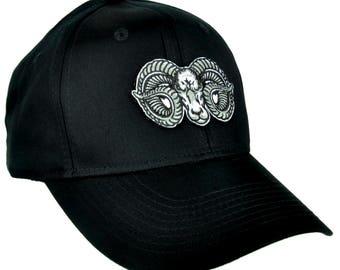 Evil Ram Goat Head Hat Baseball Cap Alternative Clothing Occult - YDS-EPT-RAM-Cap