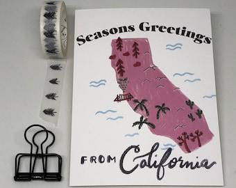Seasons Greetings From California Card | Holiday Card, California State Card, Christmas Card