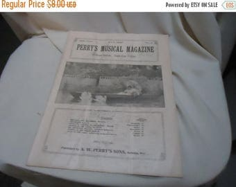 Ephemera & Books 50% Sale Vintage 1927 Perry's Musical Magazine Sheet Music, July, no 4, collectable