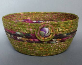 Purple Mist, coiled clothesline basket