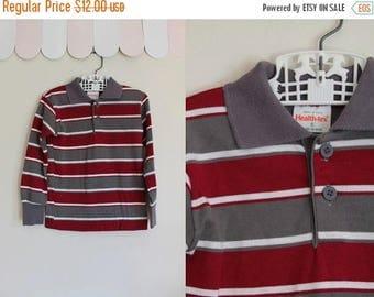 20% off SALE vintage boy's tee - HEALTH-TEX striped long sleeve top / 5T