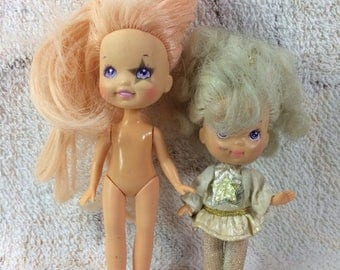 20% SALE Pair of Vintage 1980s Moon Dreamers Dolls - Retro 80s Kids Toys Bitsy and Dream Gazer