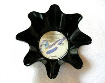 Billy Idol Record Bowl Made From Repurposed Vinyl Album
