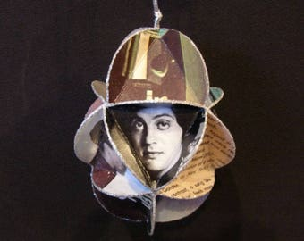 Billy Joel Album Cover Ornament Made Of Repurposed Record Jackets