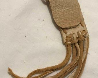 Medicine leather bag neck pouch spirit bag