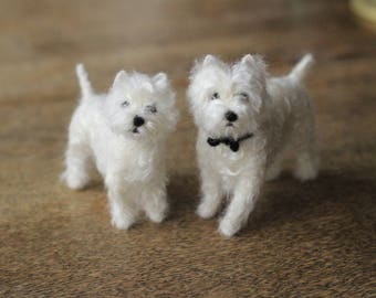 Made to order custom needle felted dog, memorial, portrait, wool sculpture, Westie or your dog's breed, 6-8 month turnaround time
