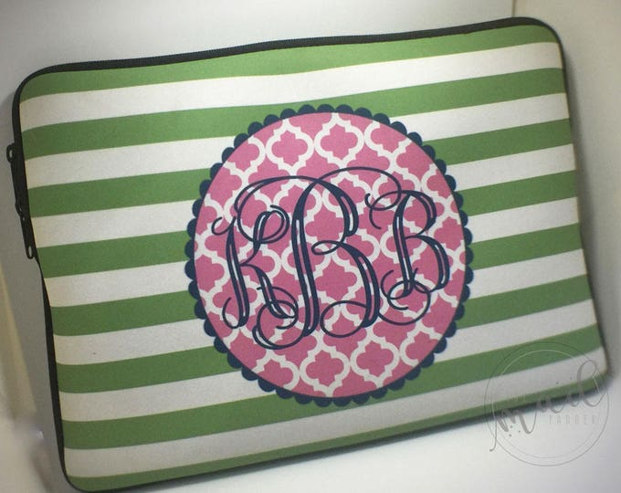 Monogram Laptop Case - Custom Made