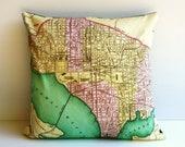 SALE DE-STASH Vintage city map/ Washington State / 16 inch pillow / cushion cover/  16 inch pillow / 41cm cushion/ decorative pillow