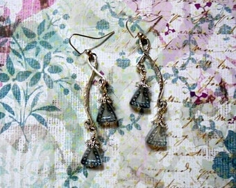 Light Blue and Silver Earrings (3699)