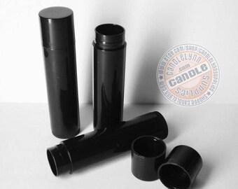 100 Black Lip Balm Tubes w/Caps