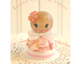 Turning One, Our Little Girl, One Cake Topper, Baby Shower Topper, Flower Petal Topper, Birthday Party Decor, 1st First Birthday, Customized