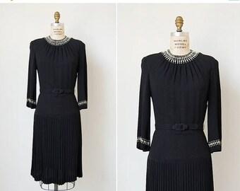 30% OFF SALE vintage 1940s dress / 40s rayon dress / 40s studded dress / Radiance dress