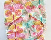 diaper cover, cloth diaper cover, one size, girl, AI2 Optional, All-in-Two optional, butterflies