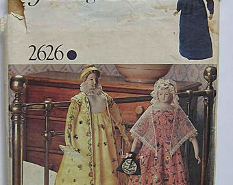 Vintage Collector's Heritage Inaugural Doll Clothes Sewing Pattern Vogue 2626 Pattern UNCUT Complete with Transfer