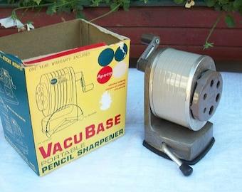 Vintage Vacu Base Apsco Model V-8 Pencil Sharpener Desktop