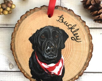 Custom Pet Ornament - Pet Ornament - Custom Dog Ornament - Pet Portrait Ornament - Pet Memorial Ornament - Pet Loss Gifts - Holiday Gifts