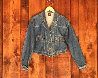 Vintage 80s Cropped Denim Jacket