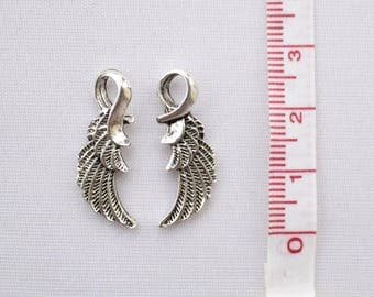 Single Angel Wing charm 2,5 cm 3D • Angel Charm • Wing Charms • Tibetan Silver Tone