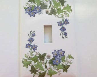 Clematis and Ivy Single Light Switch Cover, House Warming Gift, All Rooms