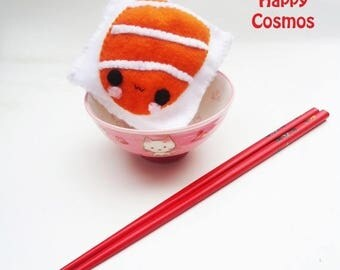 ON SALE - Sushi Cube Plushie - Kawaii Plushie, Pin Cushion, Softie, Children's Toy, Felt Food, Christmas Plush, His and Hers Gift