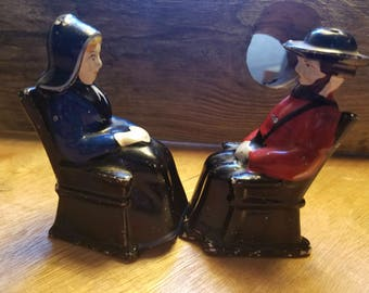 Gothic Shaker Salt and Pepper Shakers Made in Pre WW2 Japan