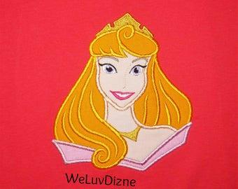 Sleeping Beauty Aurora applique shirt