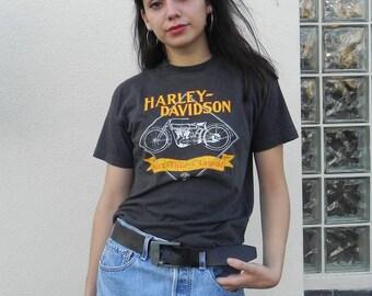 vintage Harley Davidson 80s motorcycle tee