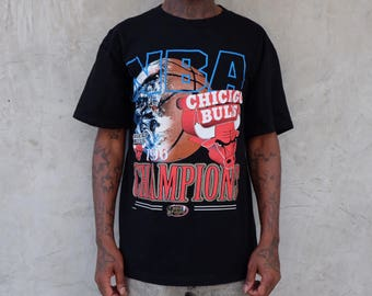 1996 NBA Finals Chicago Bulls Basketball World Champions Tee
