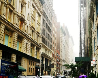 Rainy Day on W 18th St, New York City Photography Print, NYC Wall Art