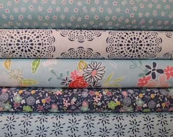 Daisy Days Fabric Bundle, Designer Fabric by Riley Blake, Fabric Bundle, 5 Yard Total