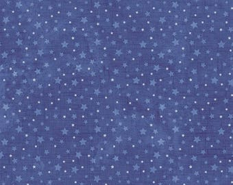 Snow and Stars Night Sky Silent Night  Northcott Christmas Quilt Fabric by the 1/2 yard