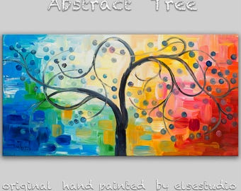 """Sale Original oil Painting Abstract Painting 48"""" Canvas  art, free dynamic Brushwork, fresh eye-catching focal point,  by Tim Lam"""